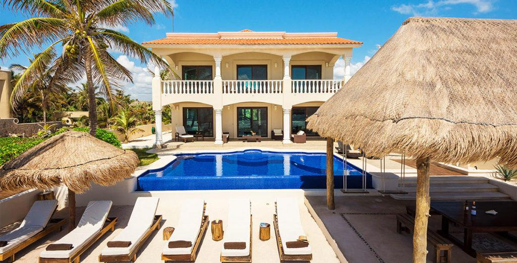 New Beachfront House with Large Swimming Pool and Outdoor Dining Palapa