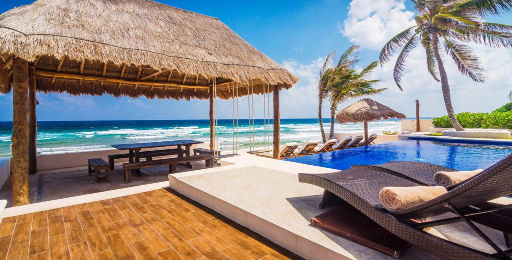Property Image 1 - New Beachfront House with Large Swimming Pool and Outdoor Dining Palapa