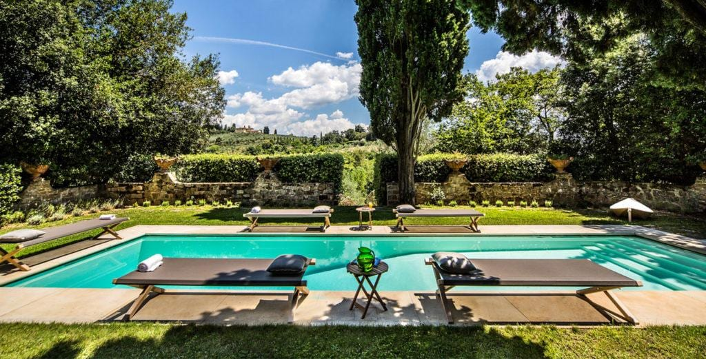 Beamed Tuscan Villa Surrounded by Olive Groves and Gardens