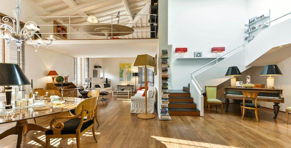Property Image 2 - Bright, Modern Duplex Penthouse in Historical Florentine Palazzo