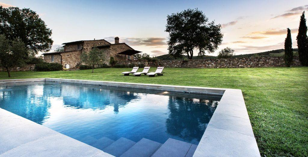 Traditional Stone Villa with Air-Conditioned Gym in Chianti