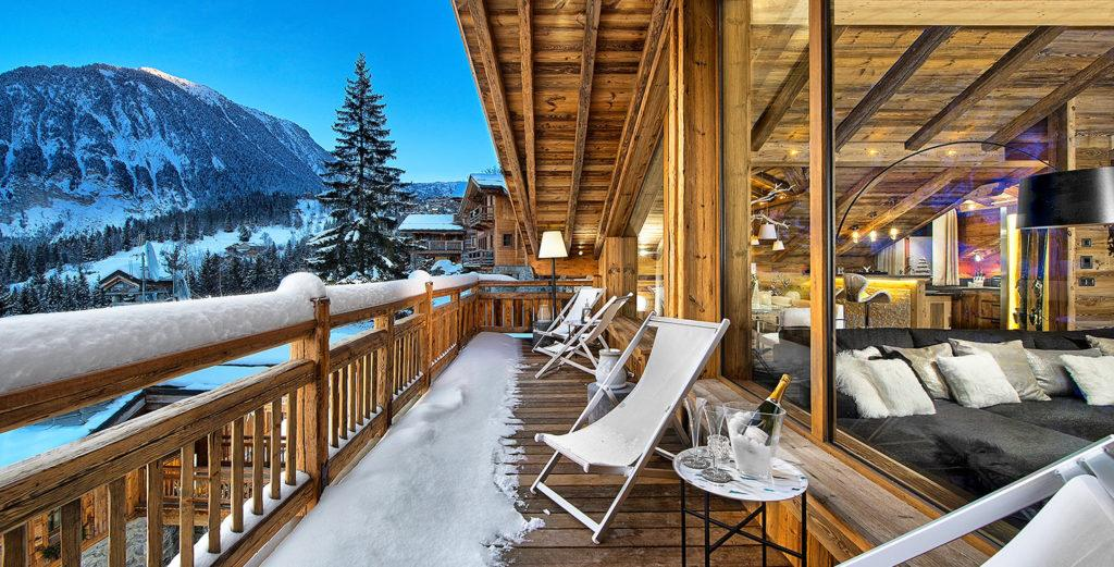 Property Image 1 - Panoramic Ski Chalet with Open Fireplace in Courchevel