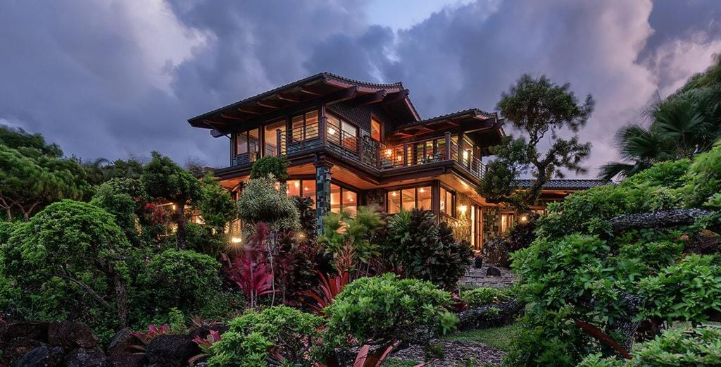 Expansive Villa Nestled on 12 Acres Overlooking Kahili Bay