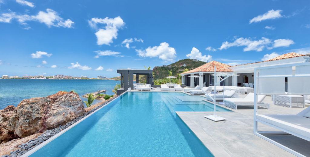 Property Image 1 - Gorgeous Hilltop Villa with its Own Beach on Simpson Bay Lagoon