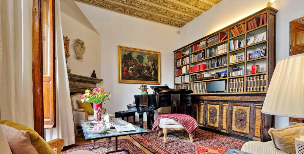Property Image 1 - Baroque Roman Apartment with Beautiful Garden Terrace in Monti
