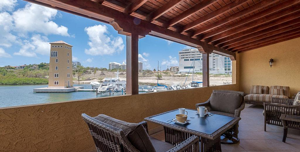 Superb Residence with Three Waterfront Terraces in Porto Cupecoy Marina Resort