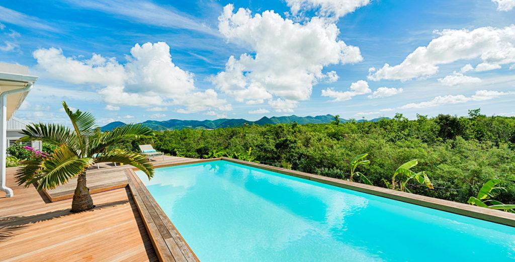 South American-Style Villa with Cascading Jungle Pool in Terres Basses