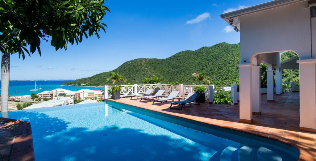 Lovely Family Villa with Chlorine-Free Pool Overlooking Anse Marcel Beach