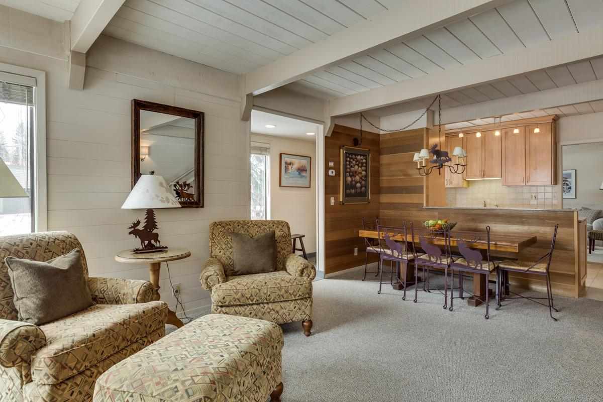 Charming, Sun Valley Village Condo with Fireplace & Media Room