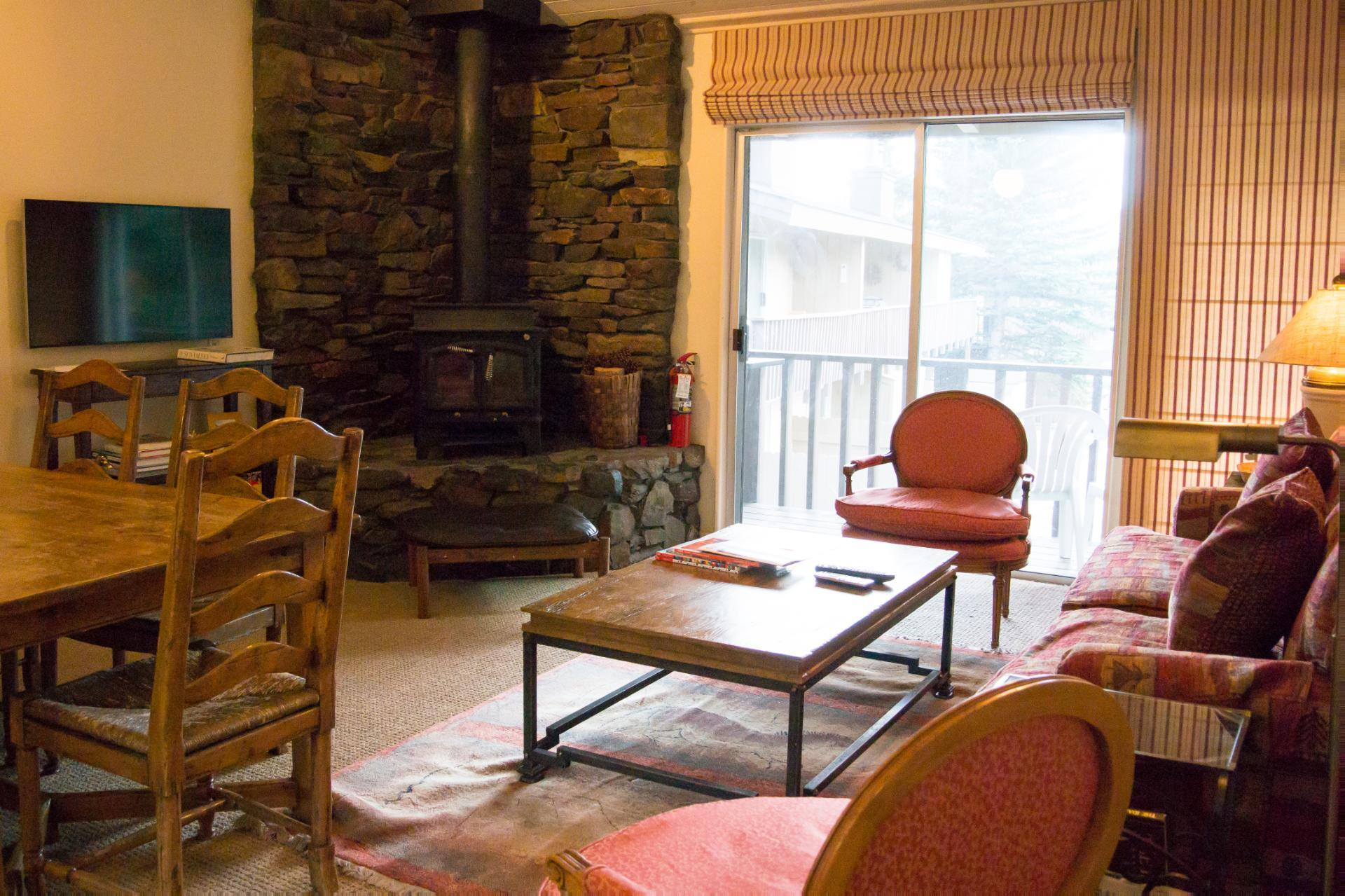 Property Image 1 - Inviting Condo with Wood Stove and Resort Amenities