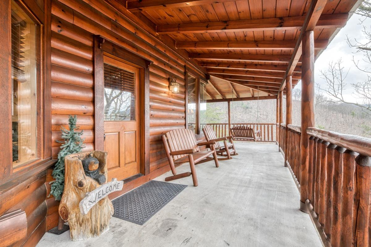 Property Image 2 - Chic Cabin with Mountaintop Views from Wrap-Around Deck
