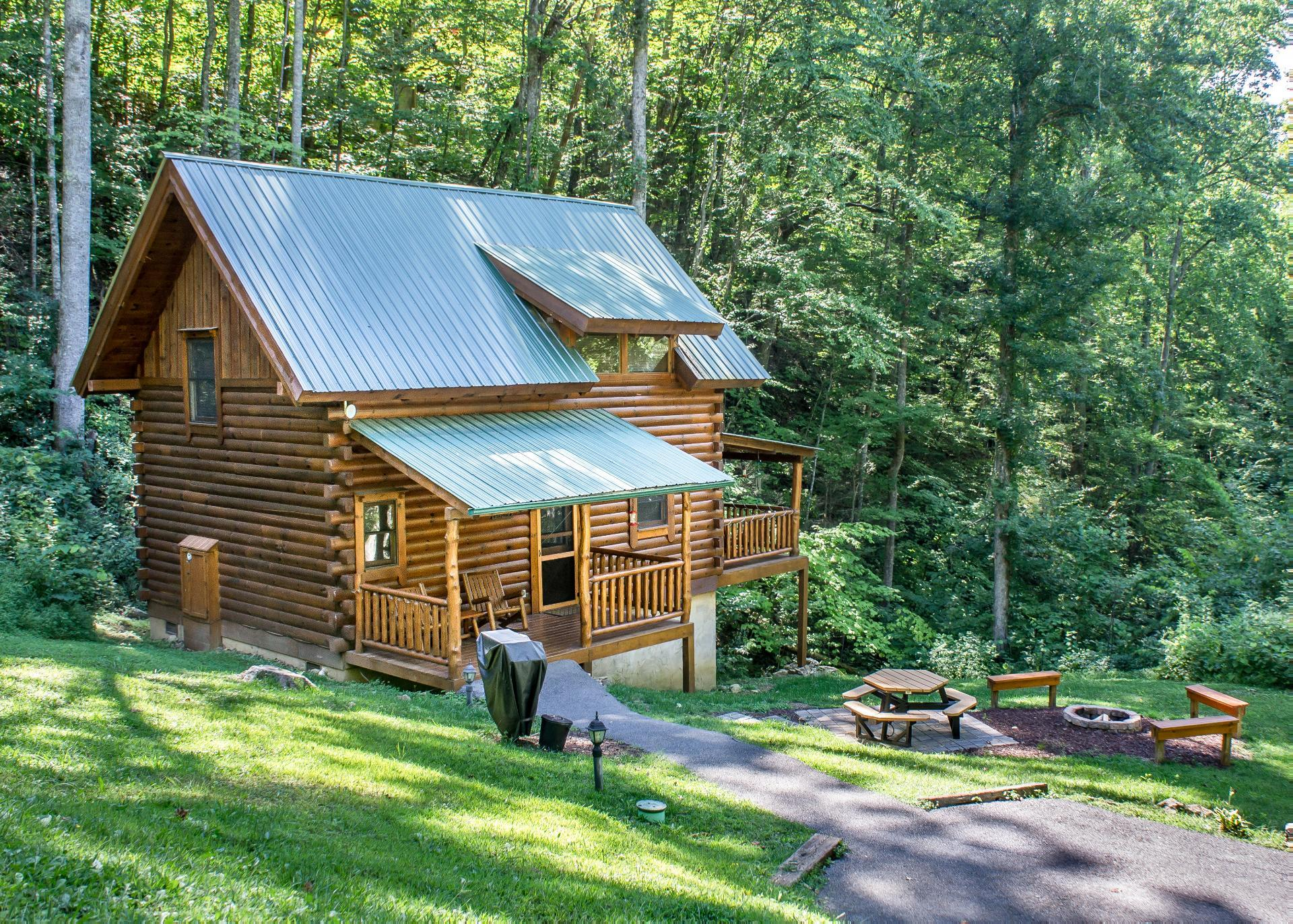 Property Image 2 - Modern Cabin on Lush Grounds with Hot Tub and Fire Pit