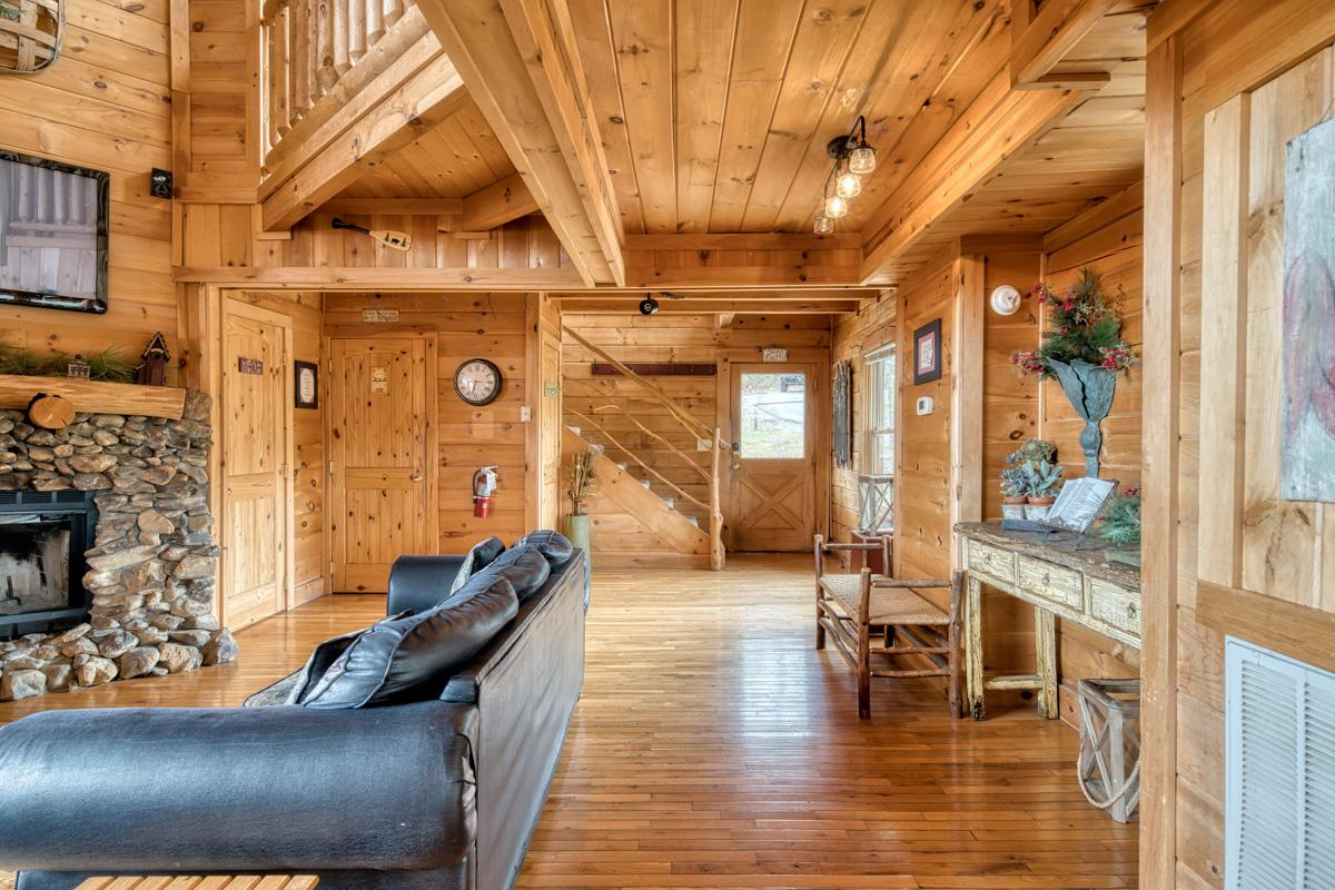 Property Image 2 - Vivacious Cabin with Wrap-Around Deck and Porch Swing