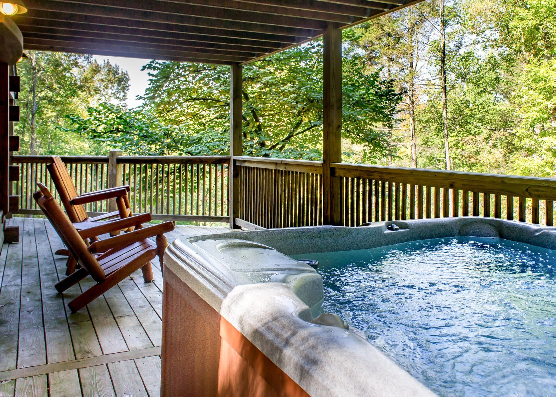 Property Image 2 - Rustic Log Cabin Near Lush Forest with Viewing Deck