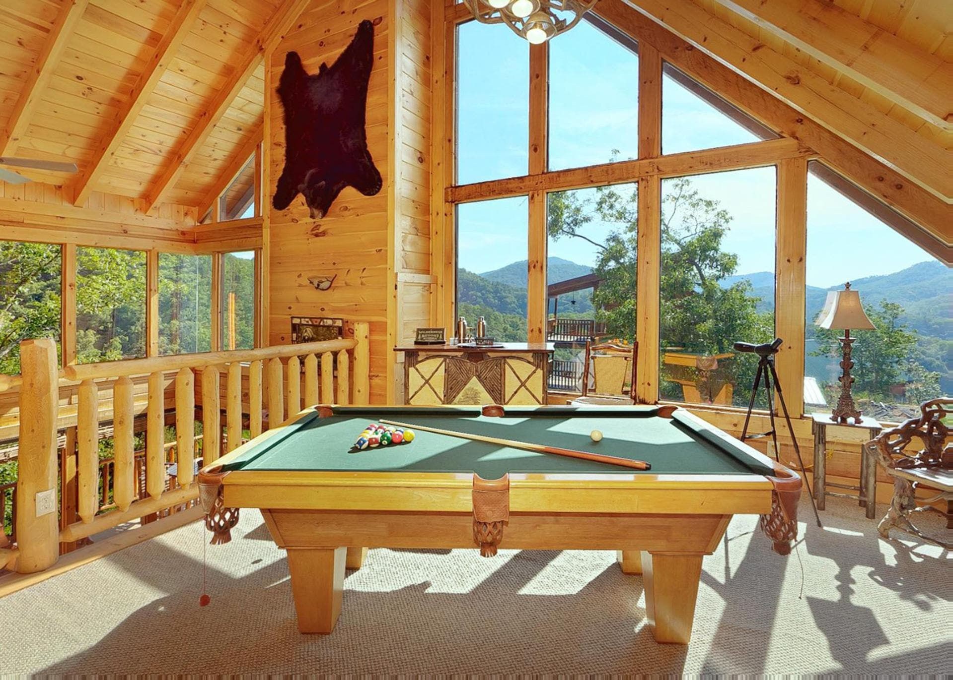 Property Image 2 - Mountaintop Cabin with Large Wrap-Around Deck