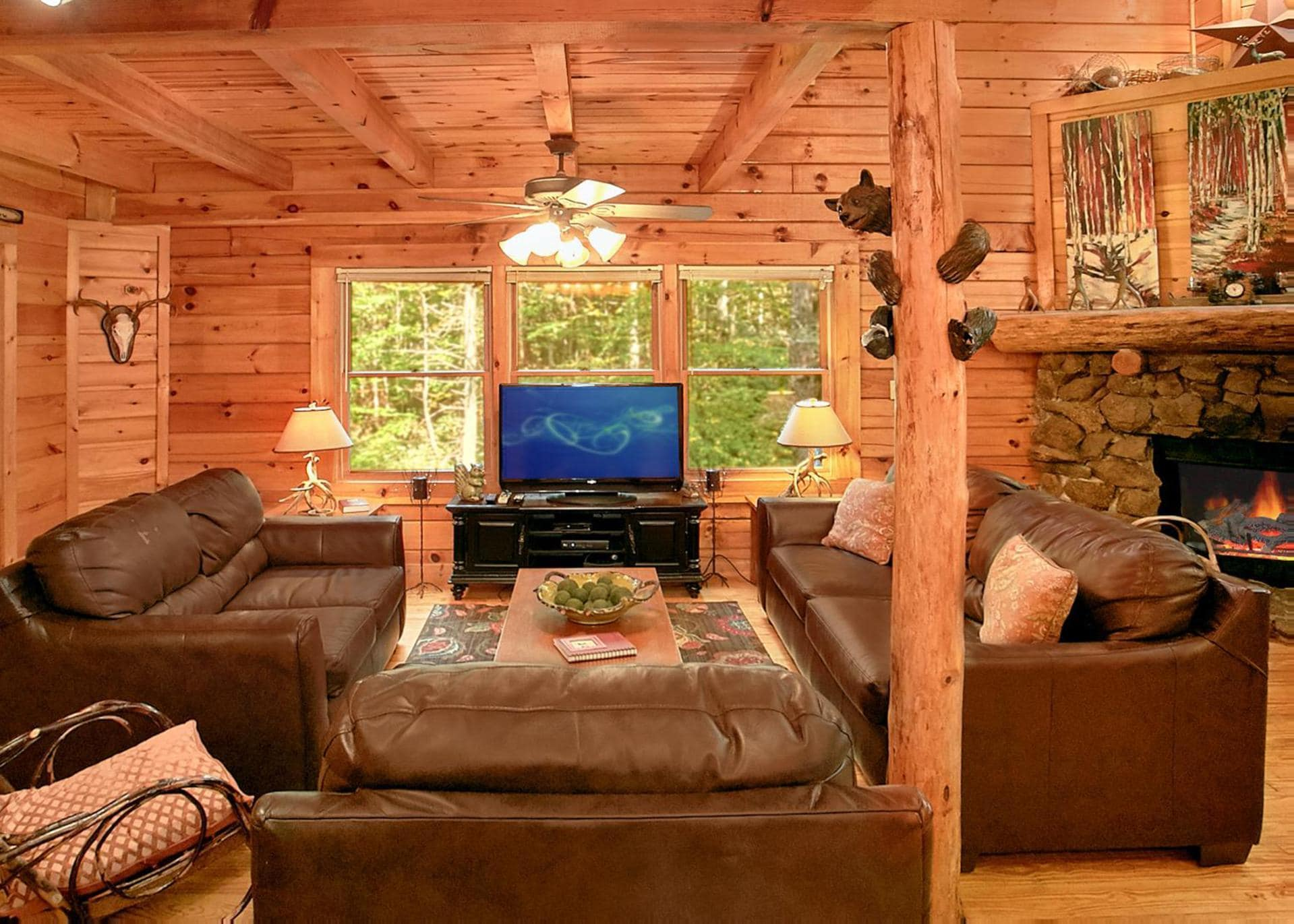 Property Image 1 - Creekside Cabin with Wrap-Around Deck and Hot Tub