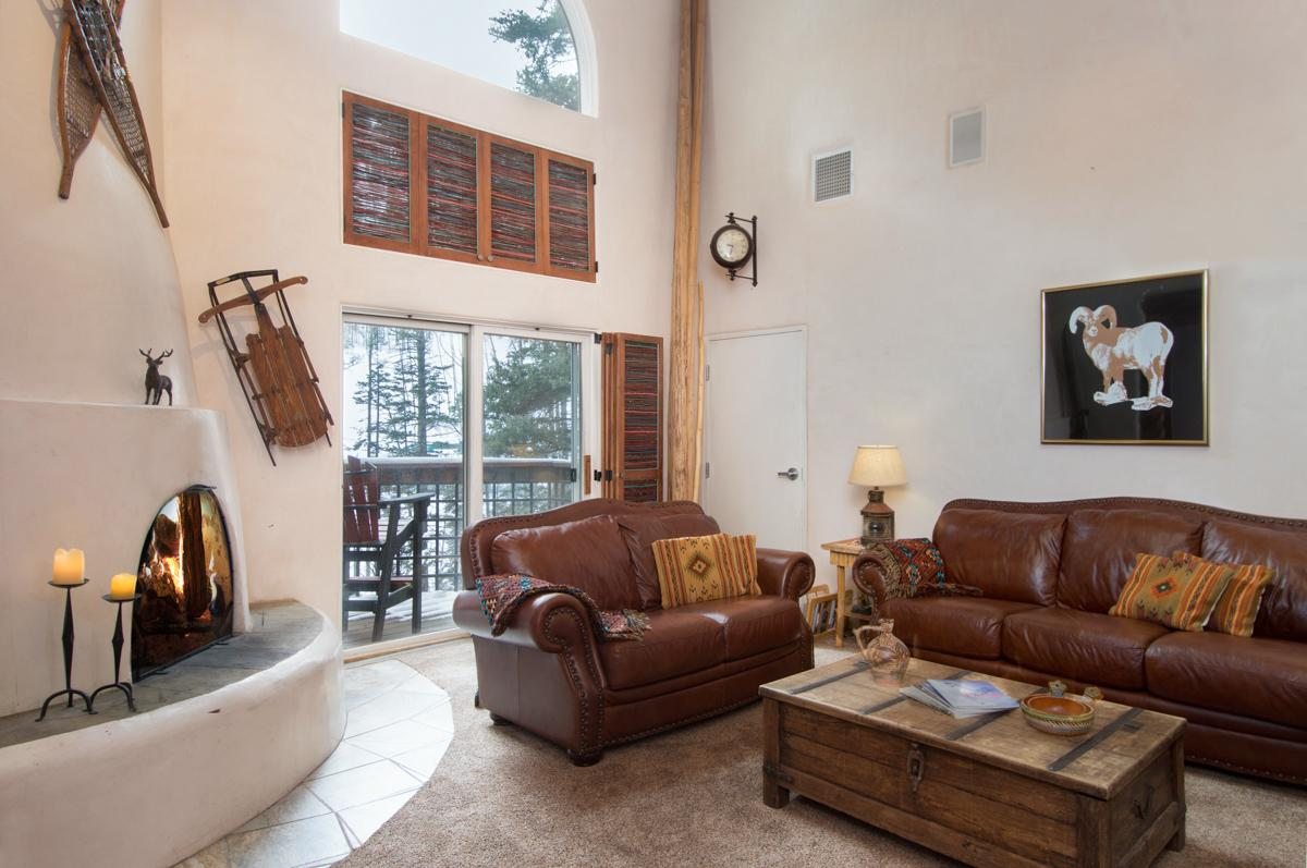 Condo Near Slopes with Western Decor and Kiva Fireplace