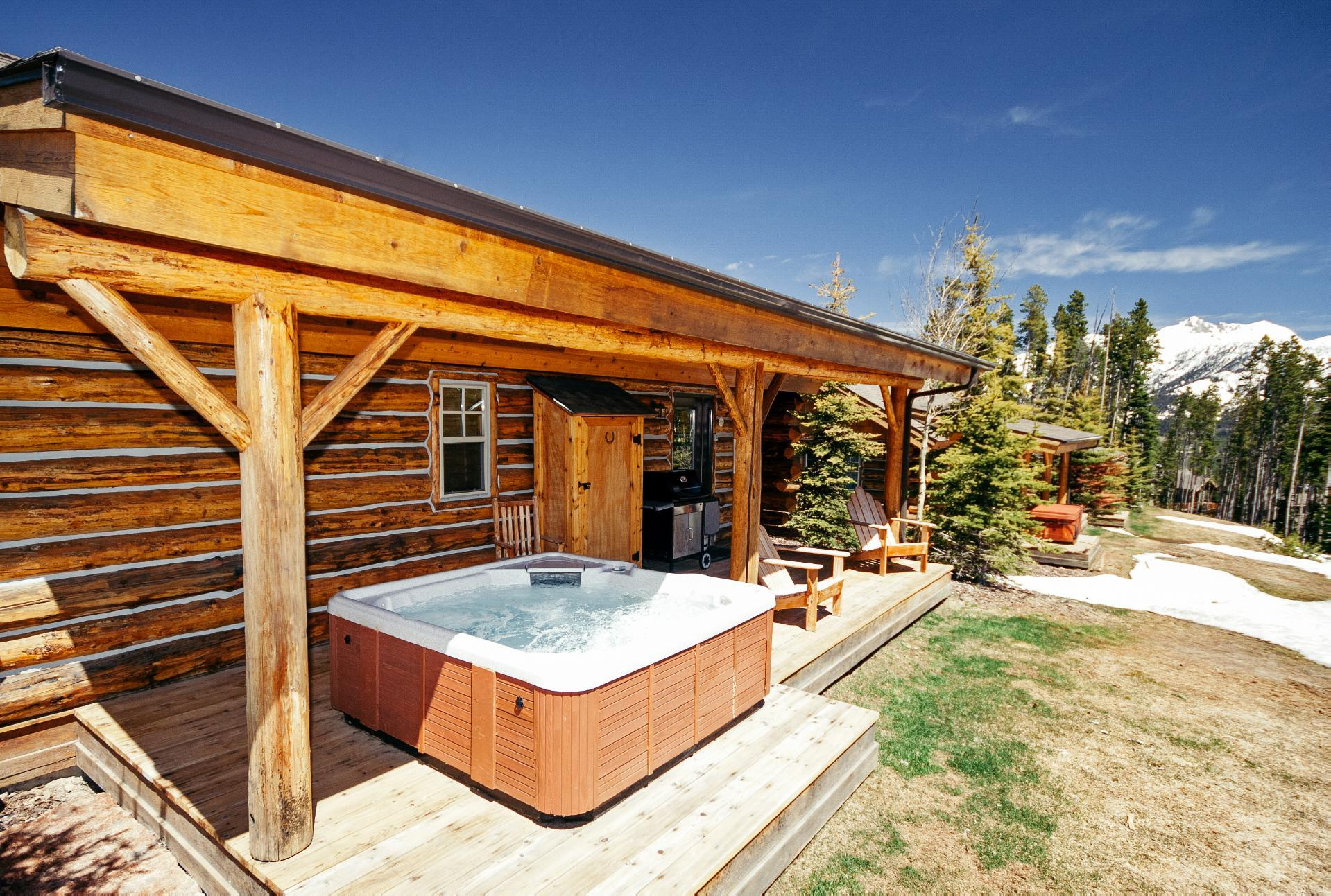 Modern Log Home with Ski Access and Private Hot Tub