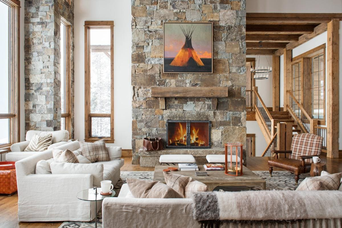 Modern Moonlight Basin Chalet with Outdoor Fireplace