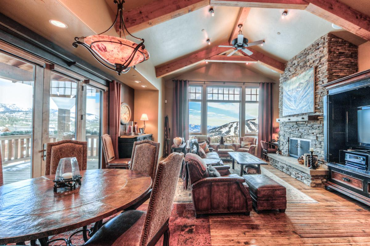 Moonlight Basin Chalet on Ski Run with Panoramic Views