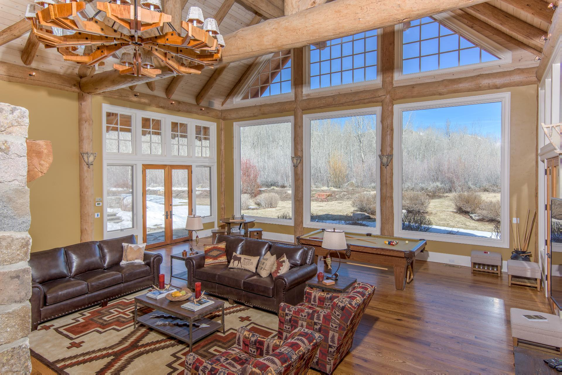Secluded Retreat on 85 Acres with Hot Tub and Game Room