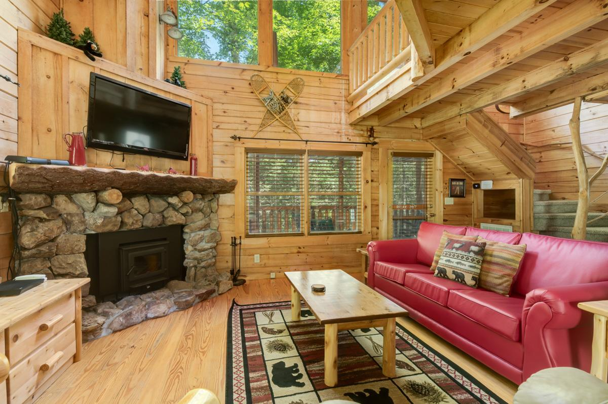 Property Image 2 - Charming, Rustic Cabin with Porch Swing and Firepit