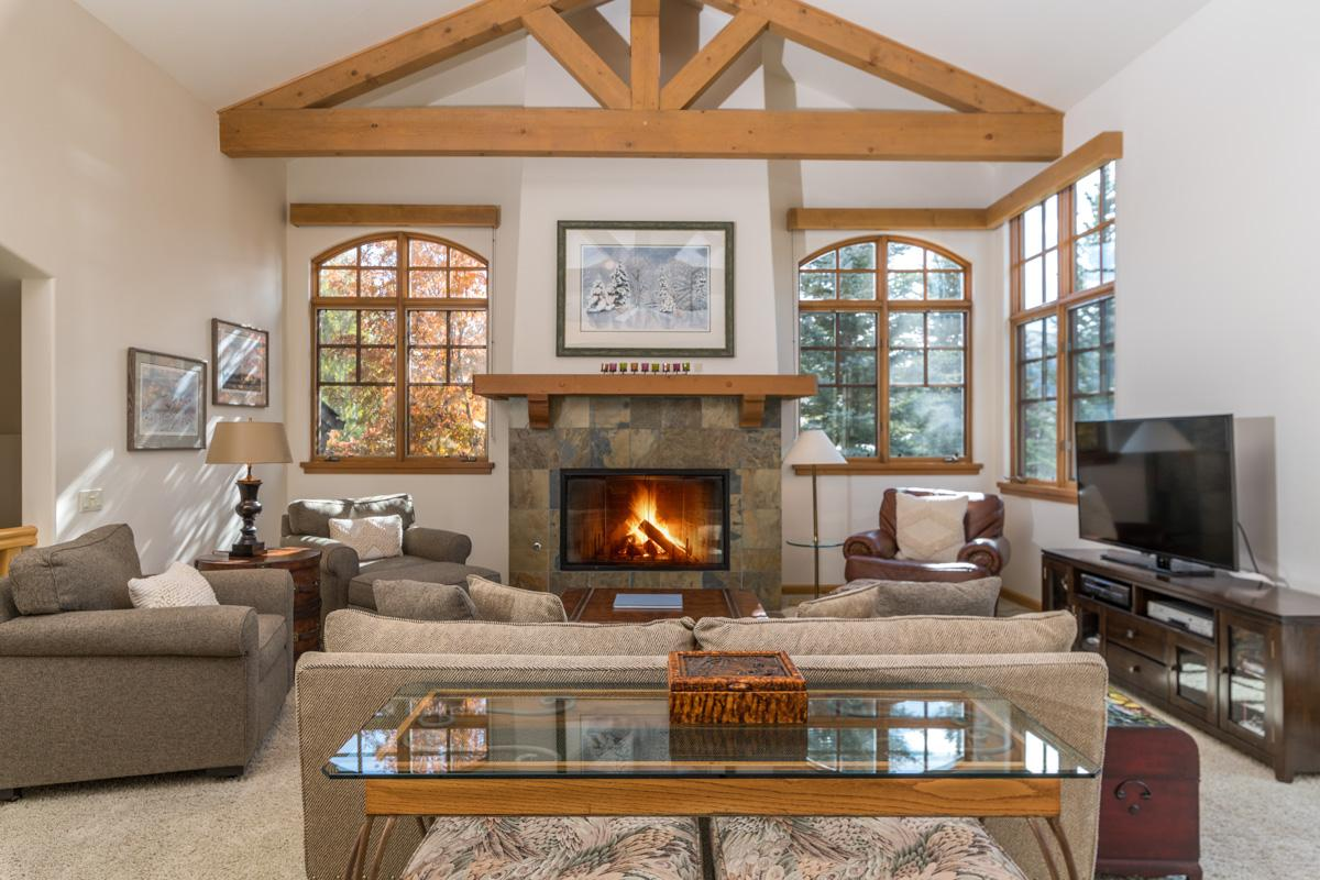 Property Image 2 - Elkhorn Townhome with Glass Walls and Mountain Views