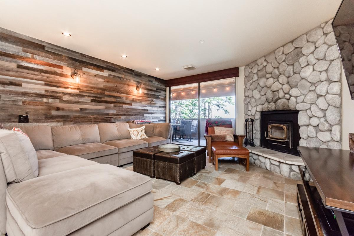 Slopeside Condo with Mountain Views and Private Deck