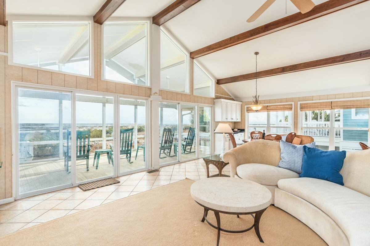Expansive Home with Screened-In Patio and Beach Views