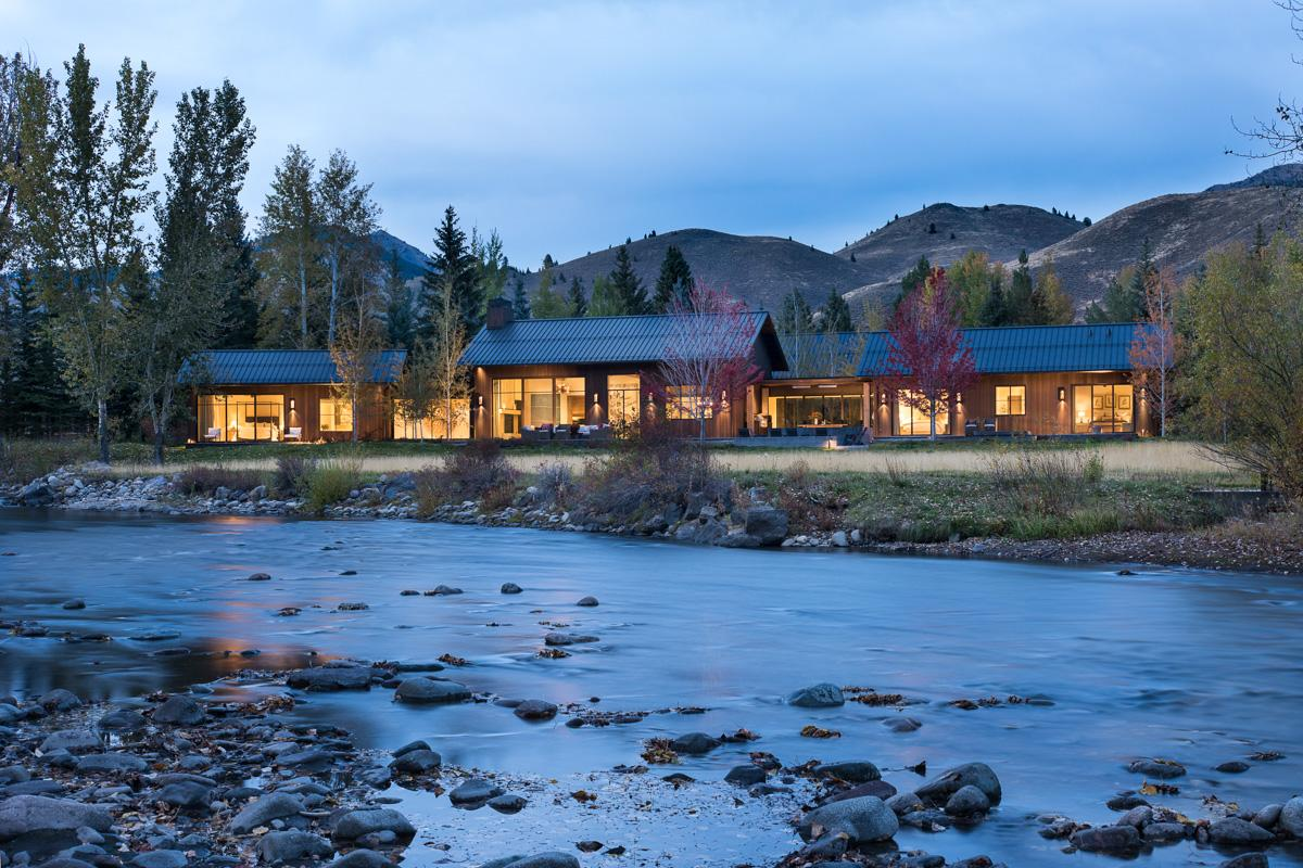 Exquisite Estate on Big Wood River with Guest House