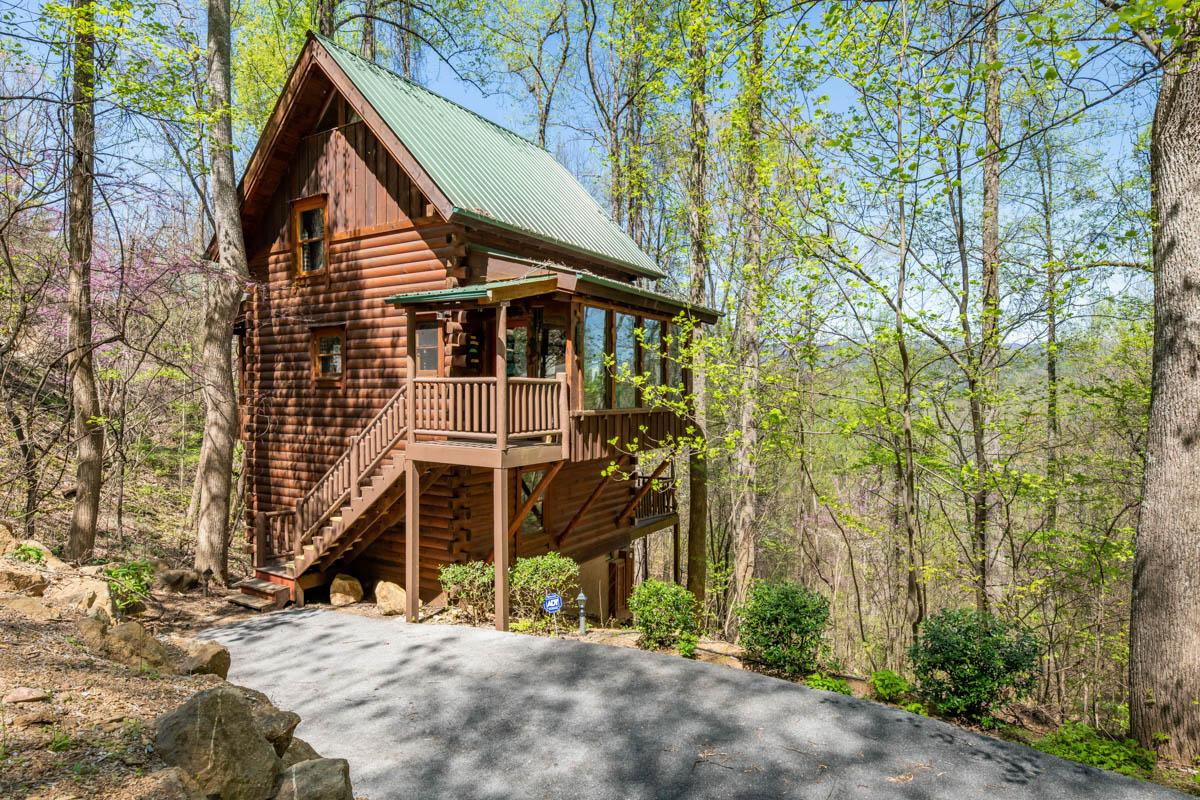 Property Image 1 - Secluded Brother's Cove cabin with hot tub, fireplace, and community pool access