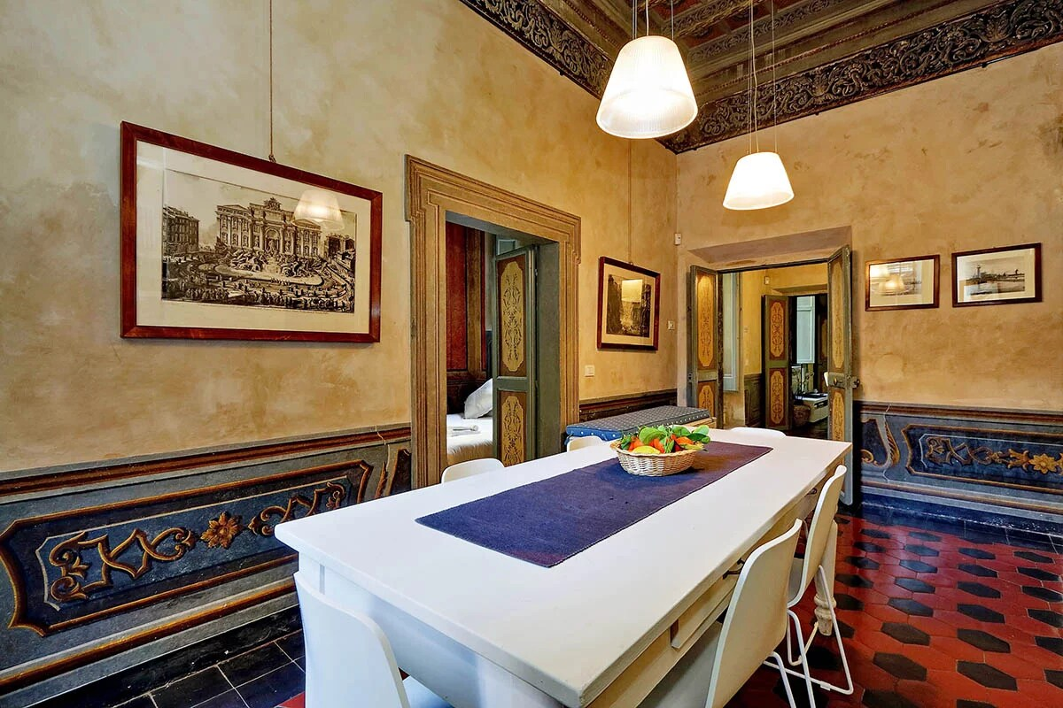 One of a Kind Valadier Historic Residence with Painted Ceilings