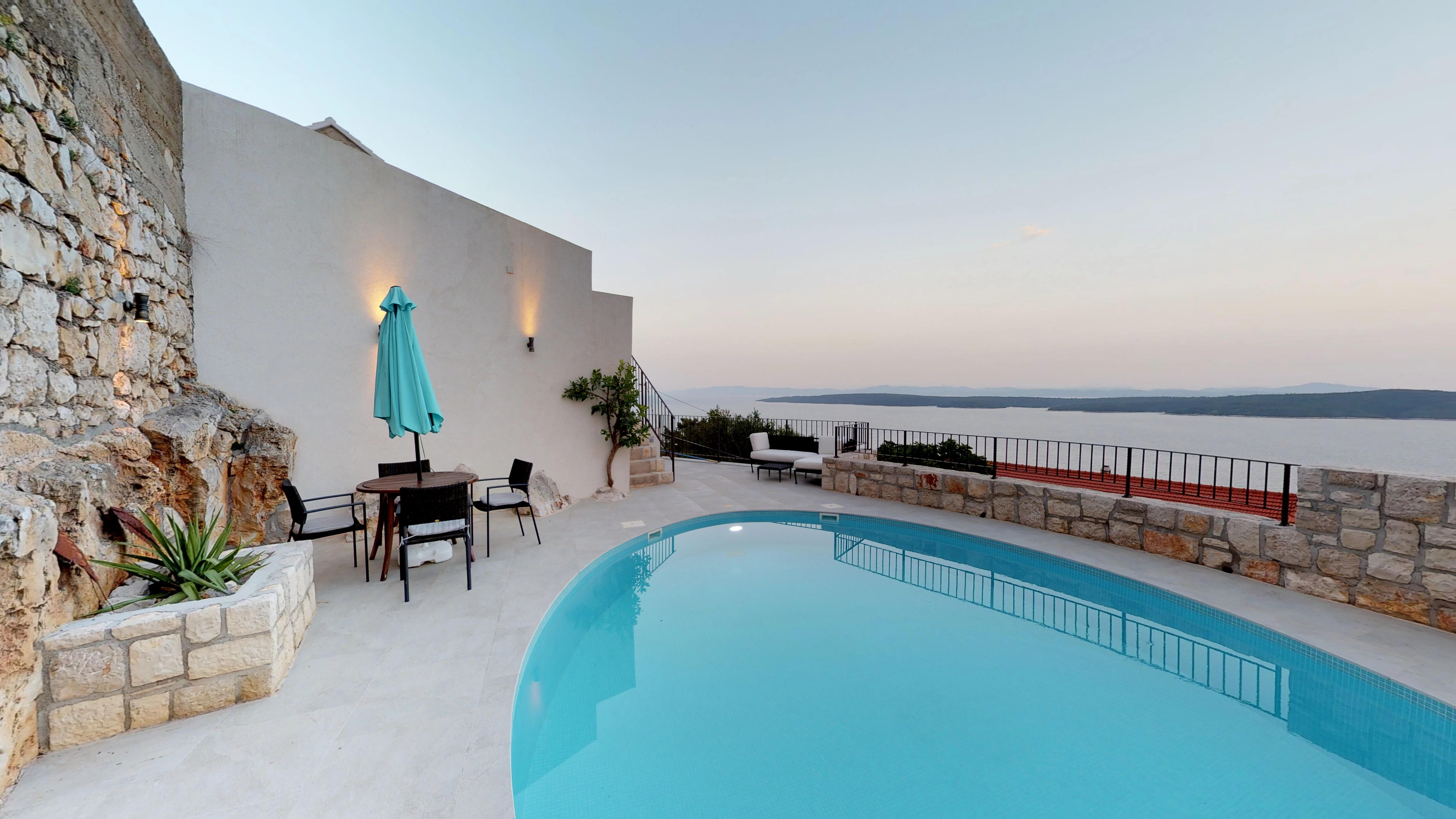 Property Image 2 - Authentic Stone Villa Complex with Spectacular Sea and Island View