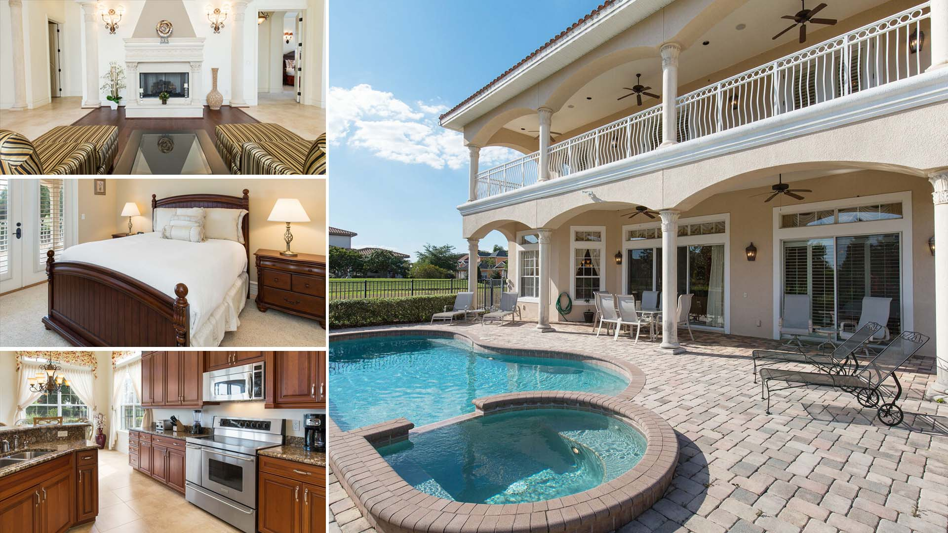 Property Image 1 - Five Bedroom Floridian Estate with Golf Course View
