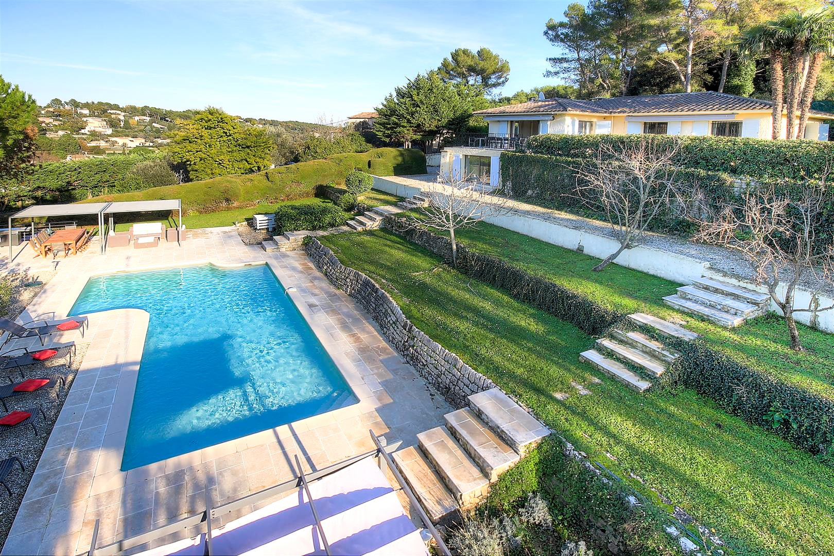 Property Image 1 - Large Villa with Pool and View close to Valbonne Village