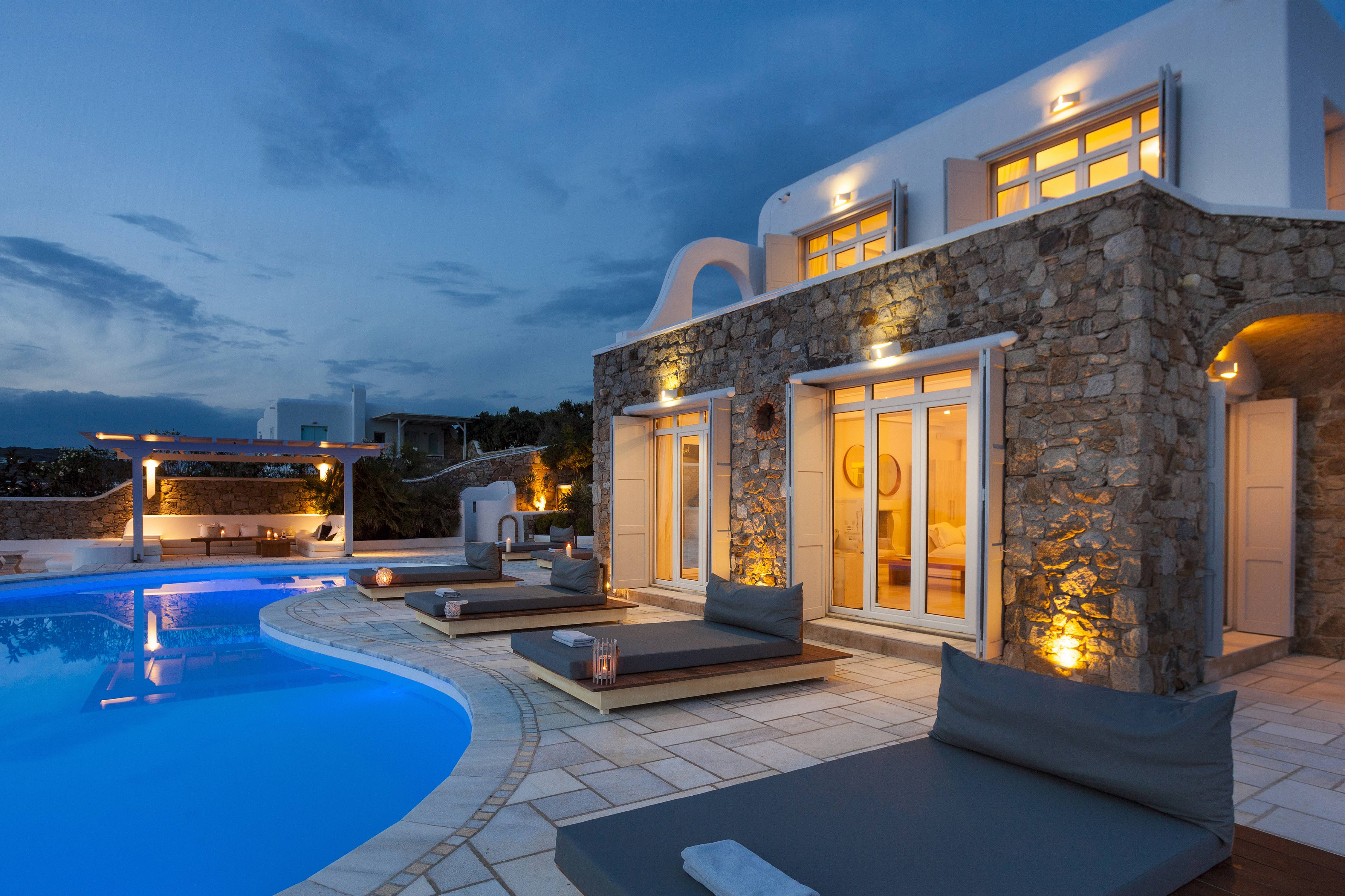 Property Image 1 - Unique 9 bedroom villa in Mykonos with private pool and panoramic views