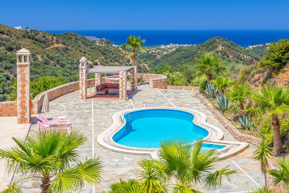 Property Image 1 - Beautifully Constructed 3 Bedroom Countryside Villa in hills of Pano Stalos commanding superb views of Aeg