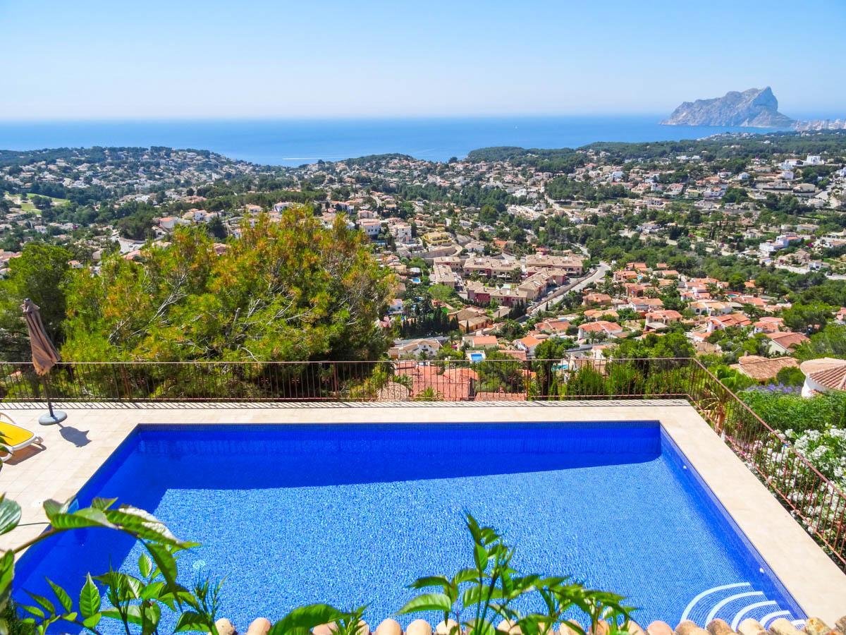 Property Image 2 - Cosy 2 Bedroom Spanish Style Villa with Pool and Amazing Views in Benissa