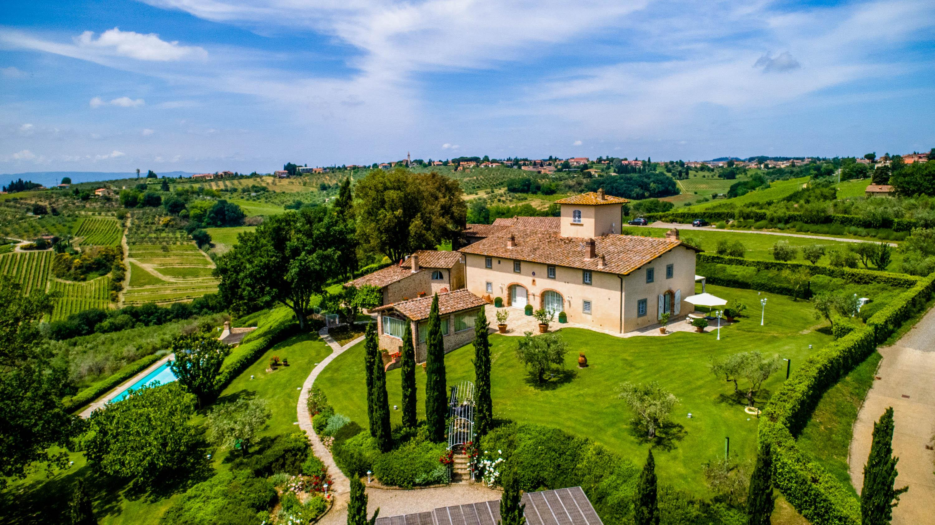 Majestic Estate in the Tuscan Hills with Private Spa