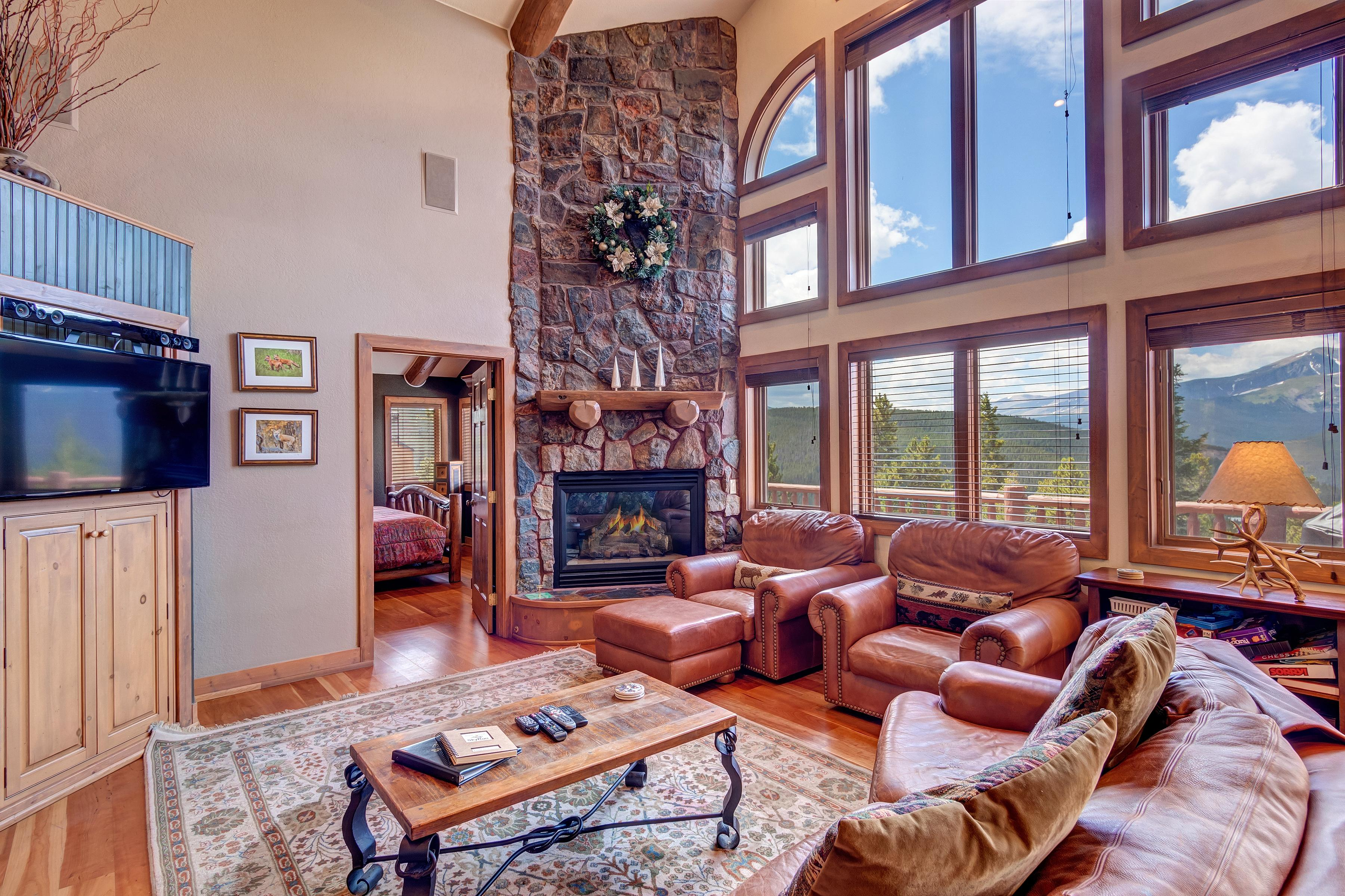 Large spacious home with ski resort views and hot tub