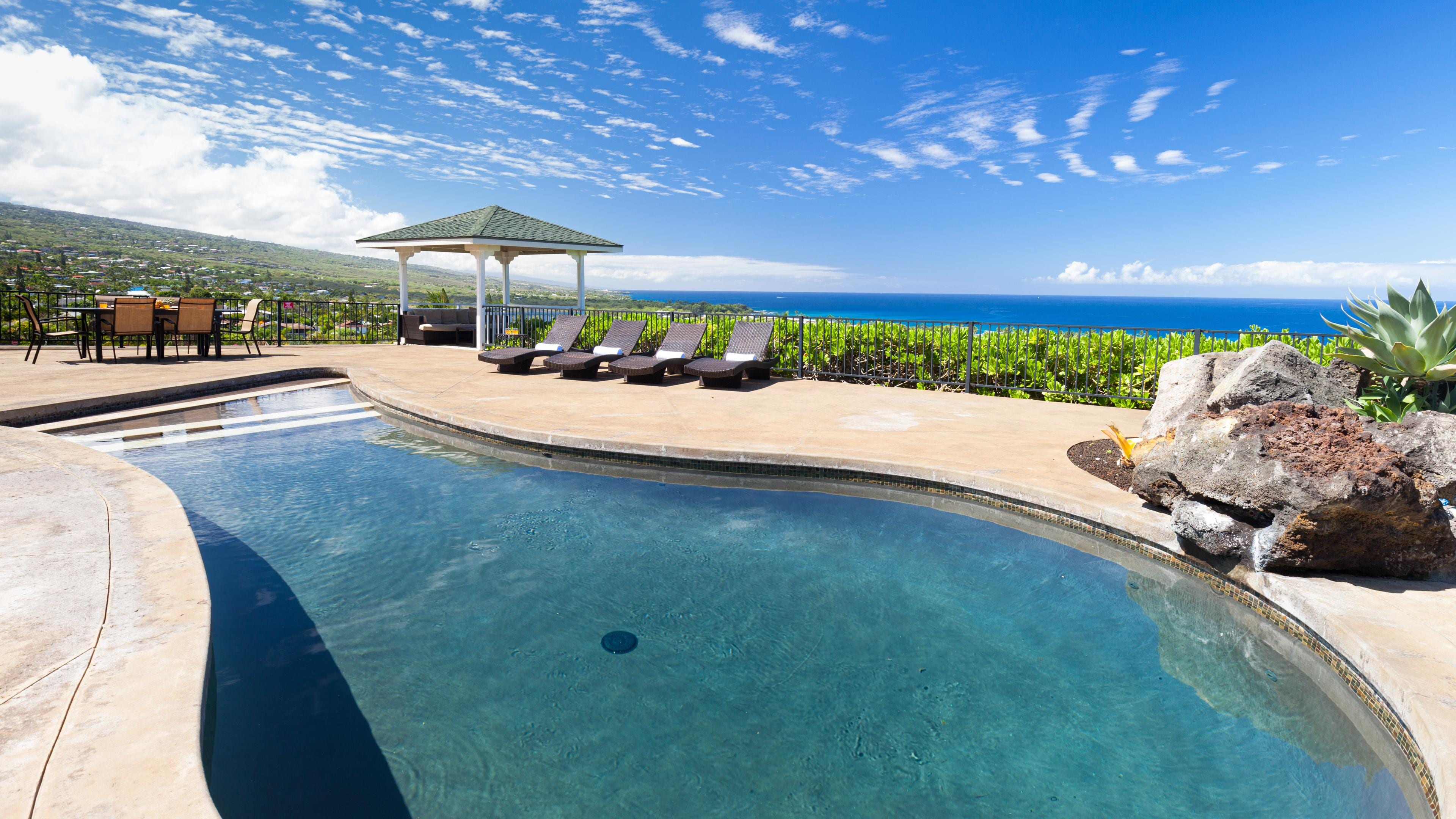 Private Pool with Stunning Ocean Views at Pacific Vista Retreat