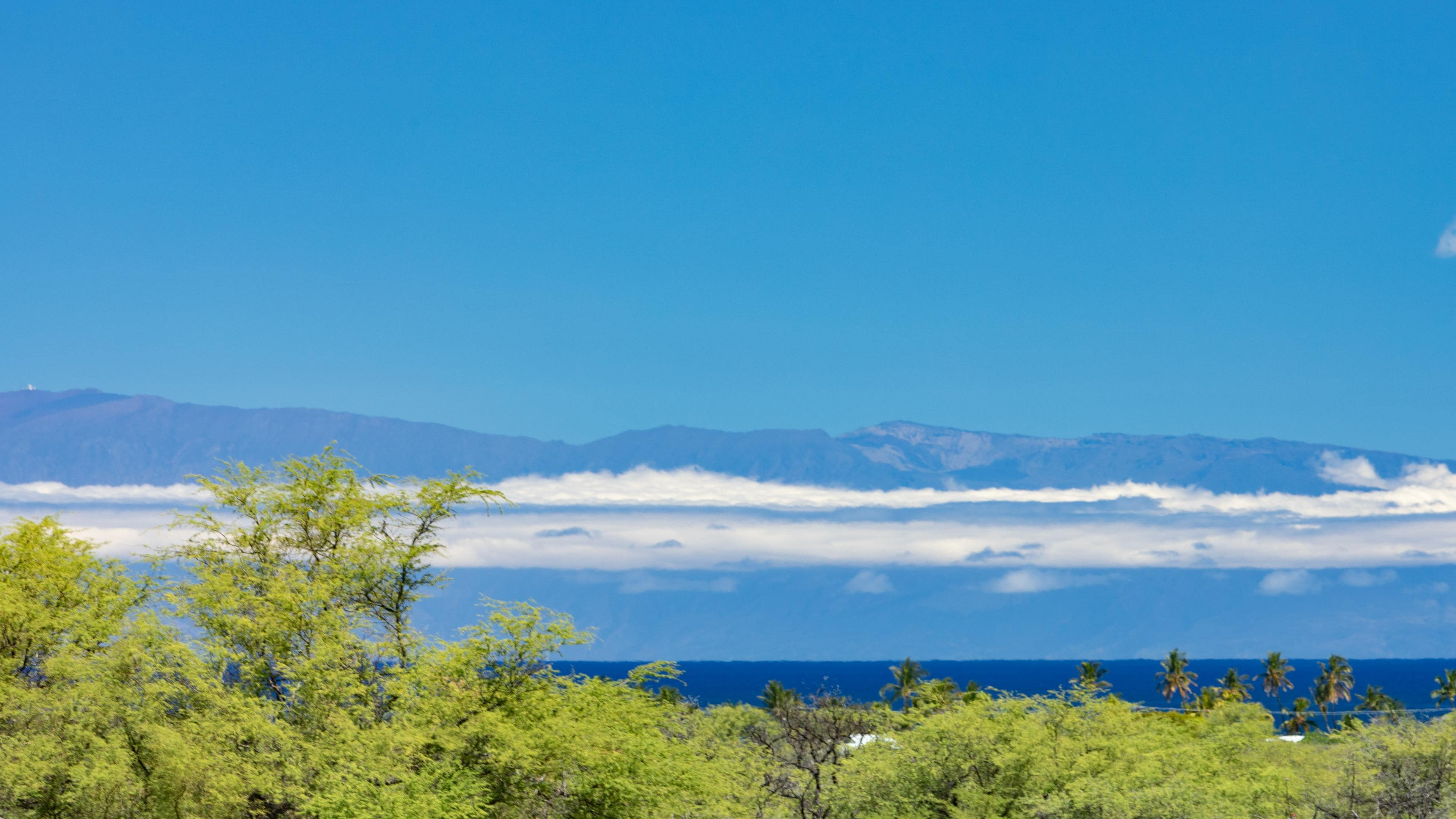 Views of Haleakala (Maui) from lanai