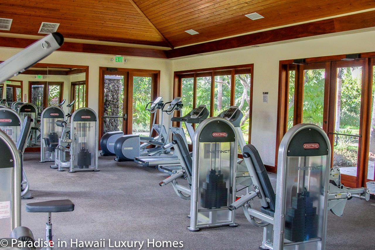 Large fitness room by the pool