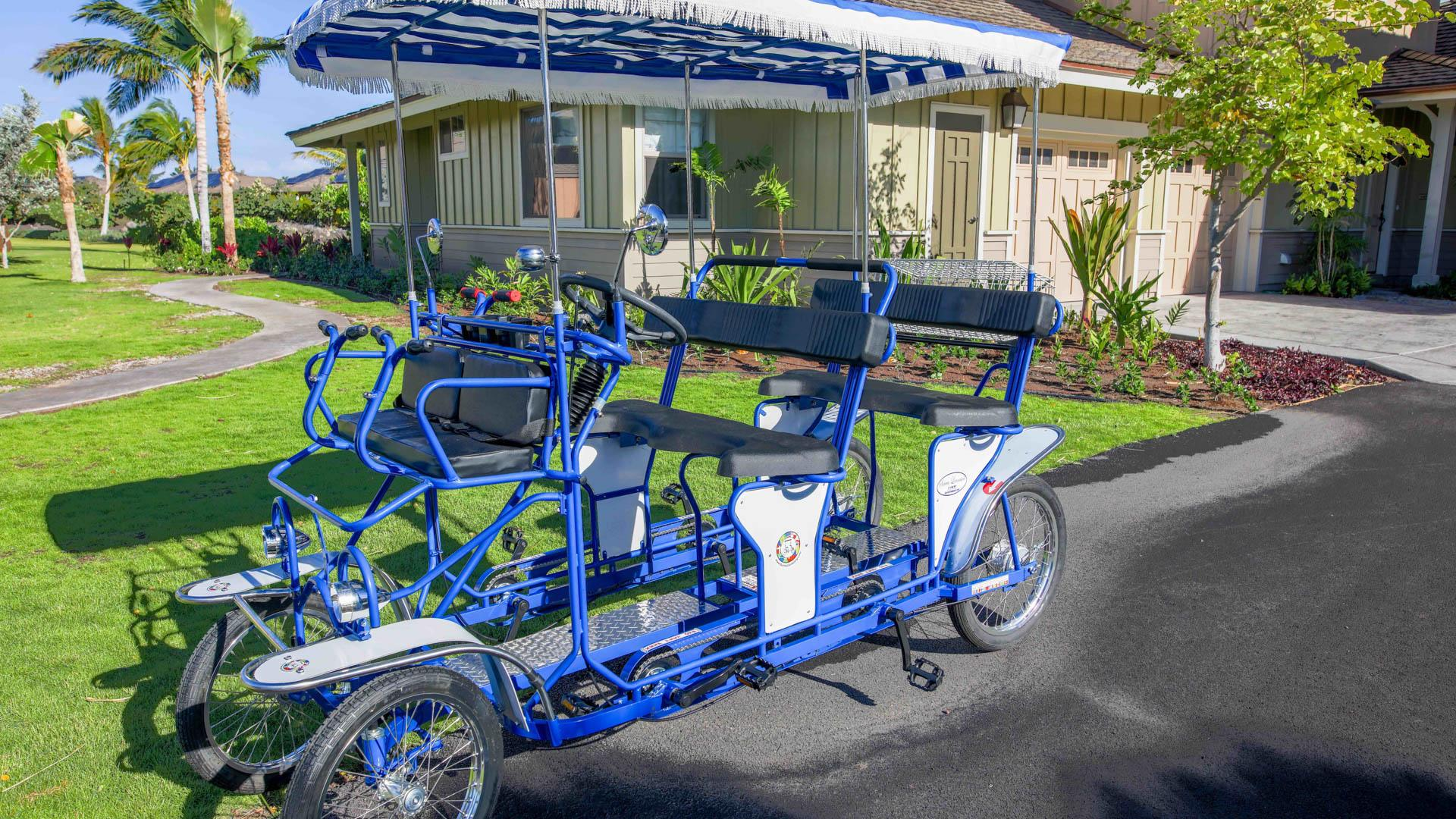 Shared use of our surrey bike for guests of Paradise in Hawaii Luxury Homes