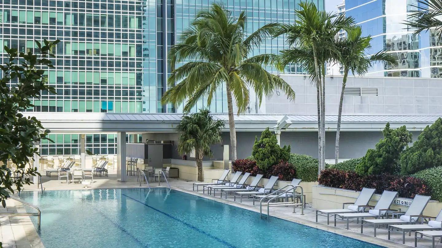 Conrad Hotel resort style pool, heated for year-round use!