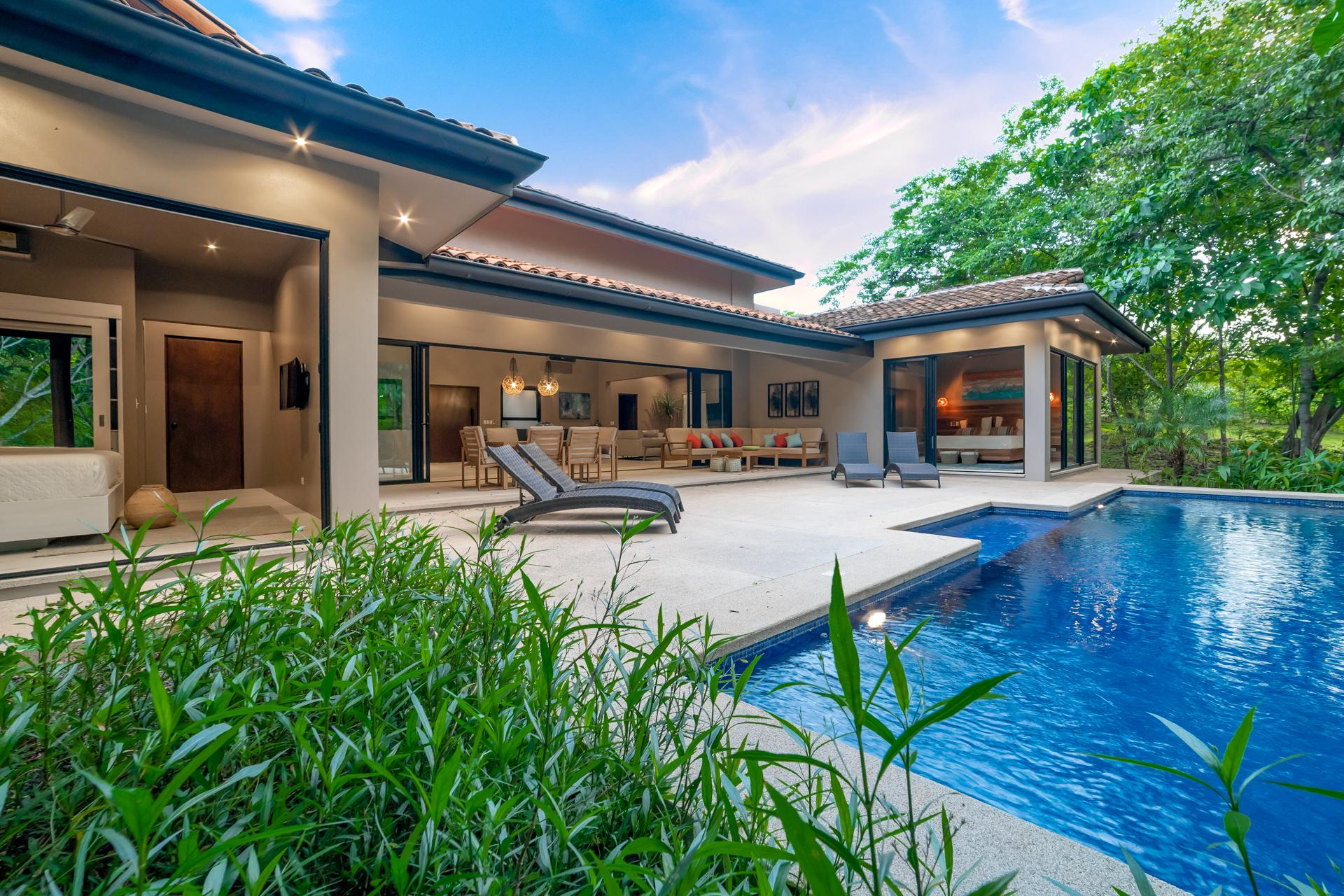 Backyard luxury surrounded by