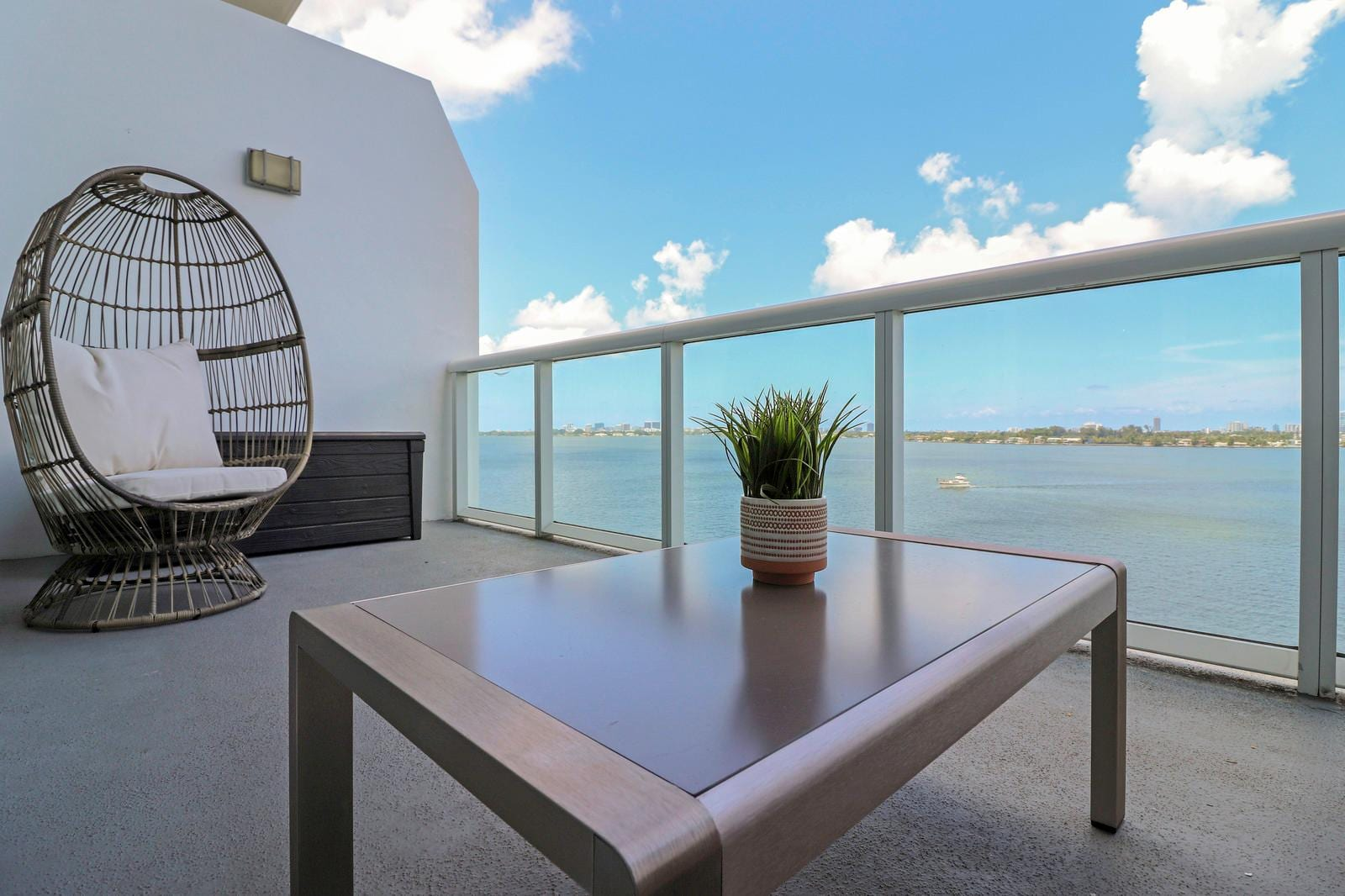 Watch the sunrise from unobstructed, waterfront views