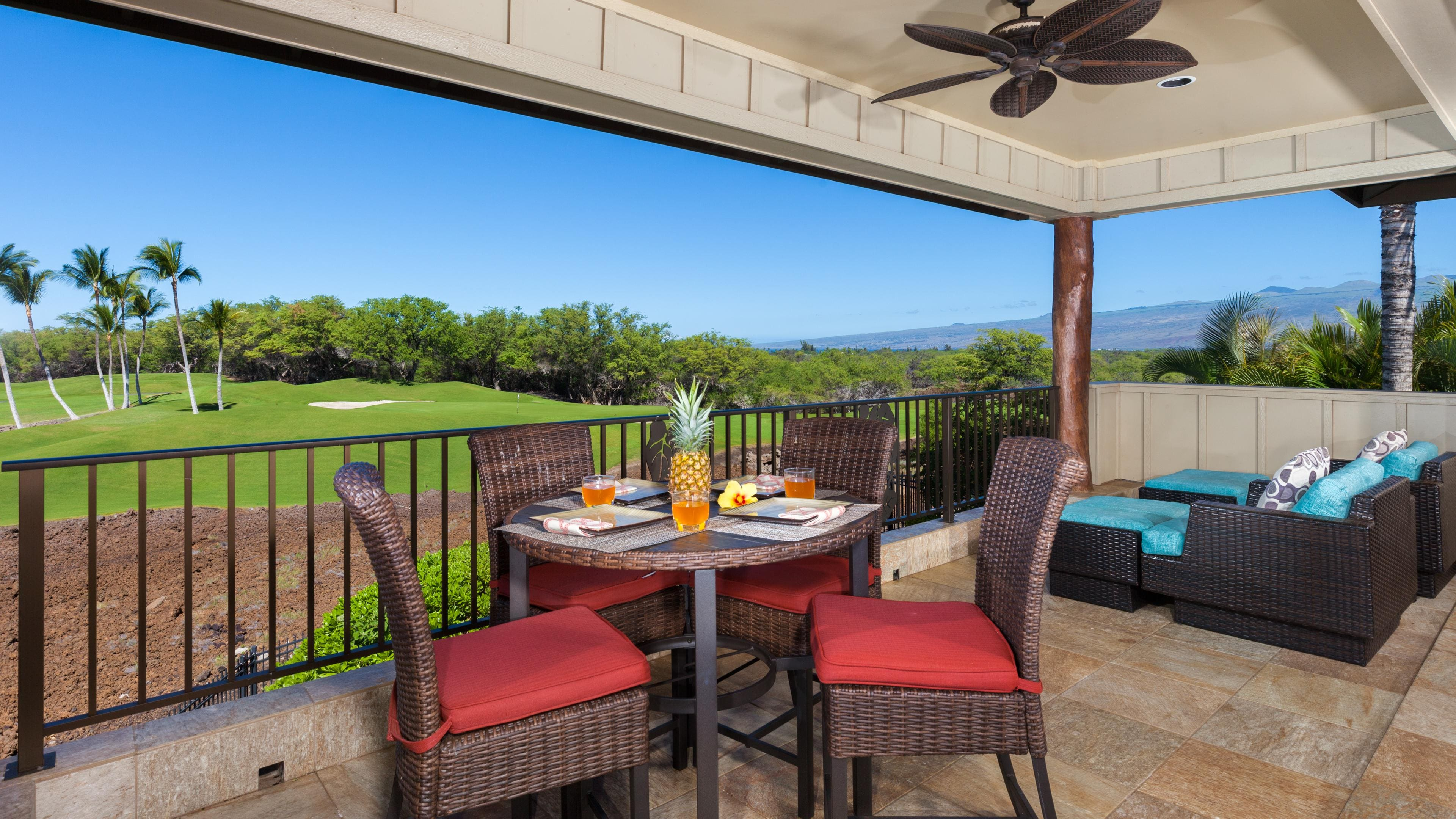 Enjoy immense views overlooking Mauna Lani North course