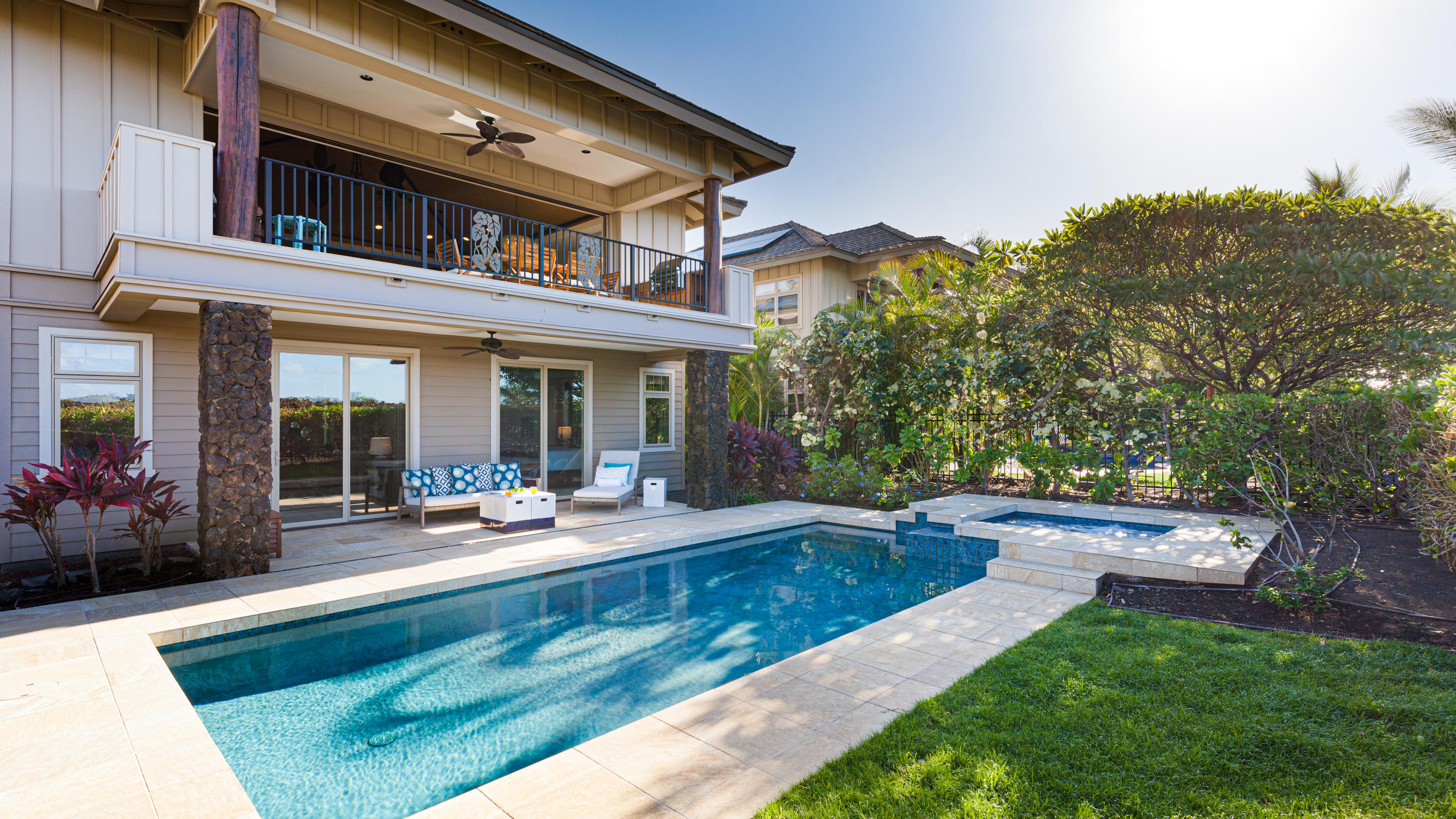Enjoy a luxurious home with private pool and spa