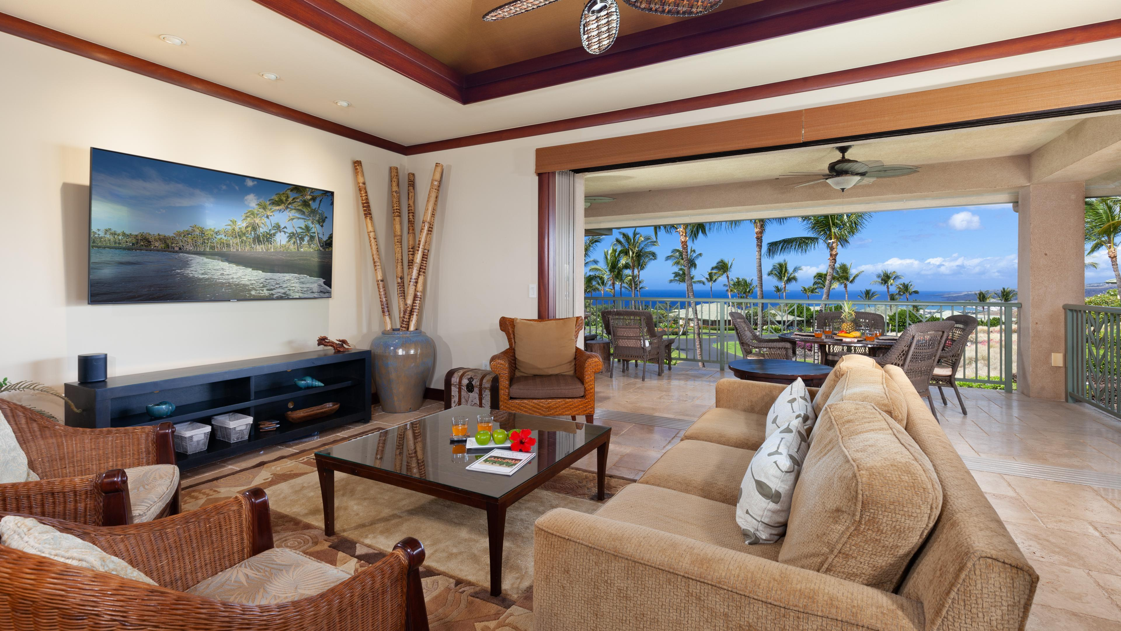 Refined 3BR Wai'ula'ula Home with Stunning Ocean Views